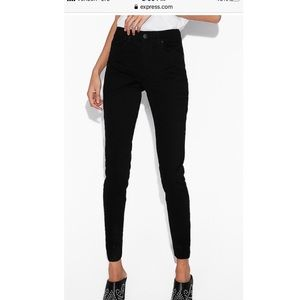 Express high waisted black skinny jean